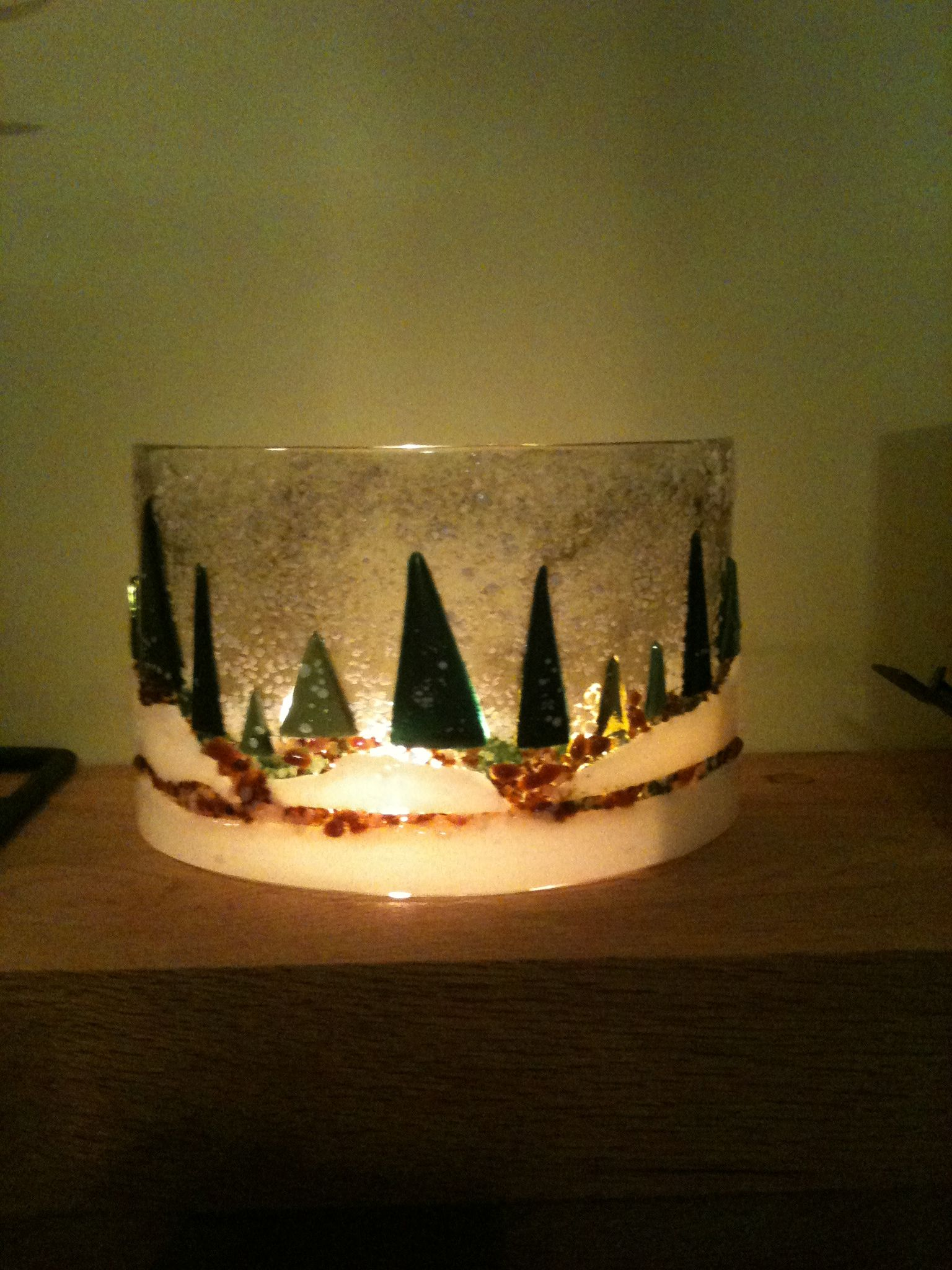 Glass Forest Scene After Fusing And Bending Fused Glass