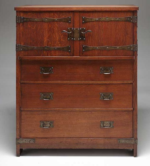 Mission Style Furniture Denver: Linen Press, Gustav Stickley, Attributed To John Seidemann