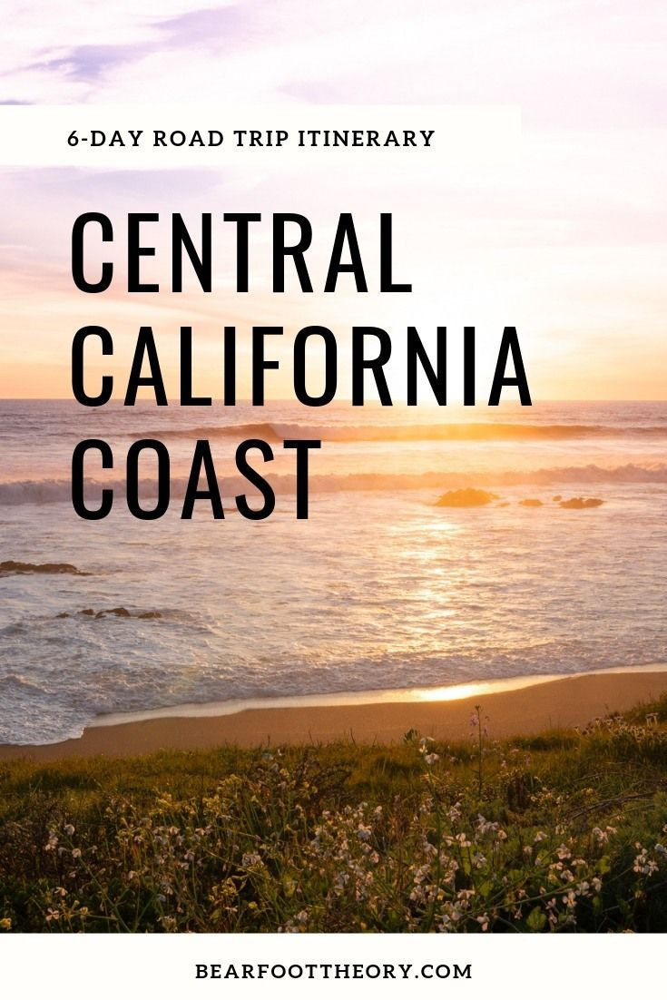 6-Day Central California Coast Road Trip Itinerary - #BearfootTheory  From sea-to-spoon and farm-to-fork meals to hikes with sweeping views, boutique hotels, and hidden gems that are just off the beaten path, there's a ton to explore here. Day 1: Explore Downtown Ventura & Hit the Beach Day 3: Ojai Activities  - Day 4 Santa Barabara - Day 5: Avila Beach + Cambria - Day 6: Morro Bay + Tin City - #california #centralcoast #roadtrip #vanlife #californiavacation #sprintervan #2019travelgoals
