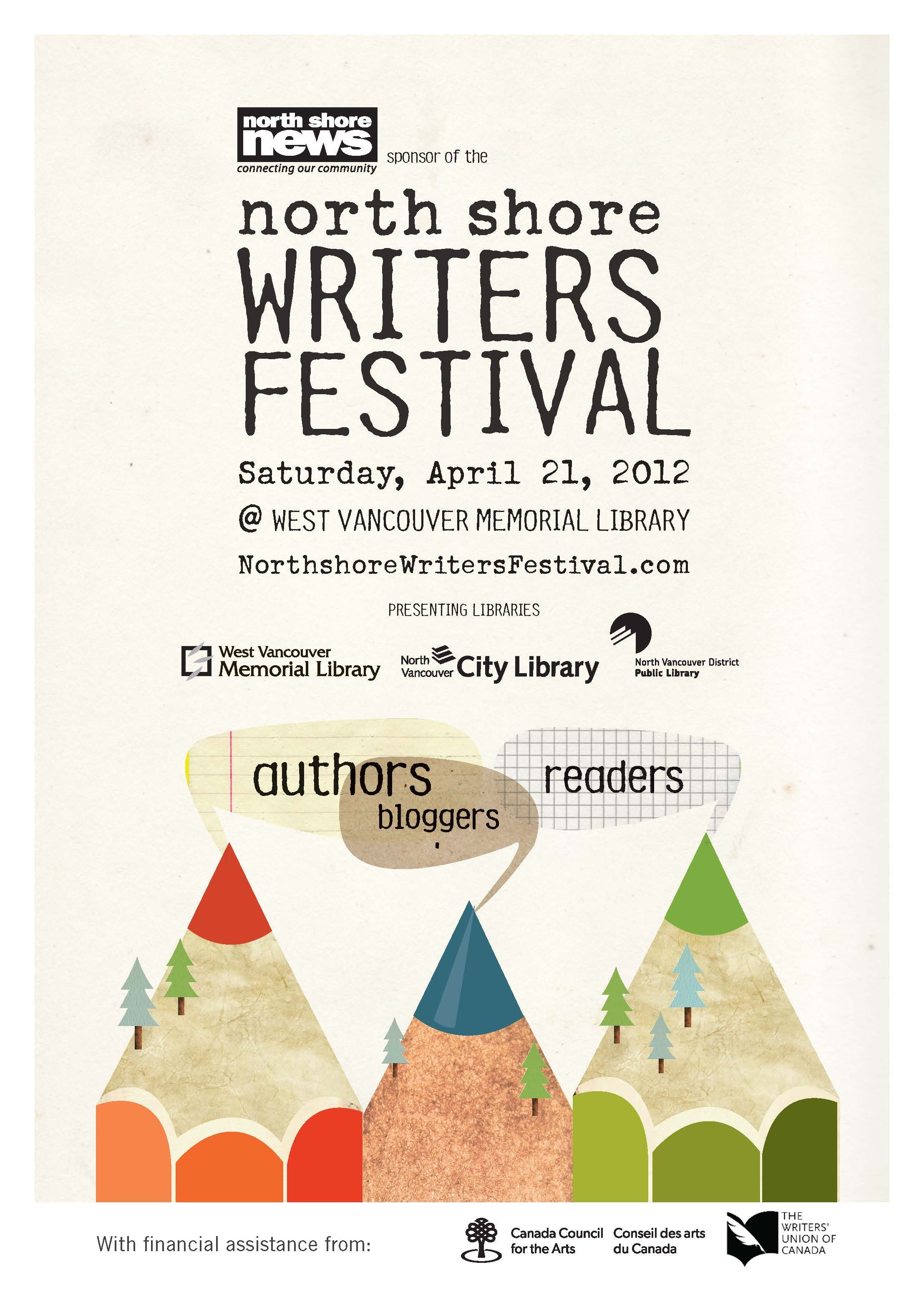 Poster design vancouver - North Shore Writers Fest Poster Nswffront Jpg 2215 3101