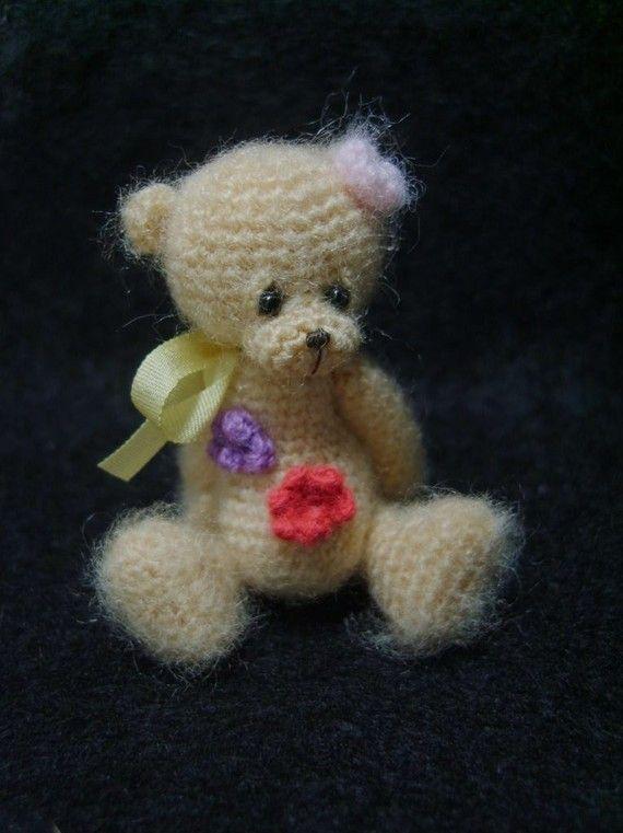 Miniature Thread Crochet Flower Bear Pattern PDF by thetinytoybox ...