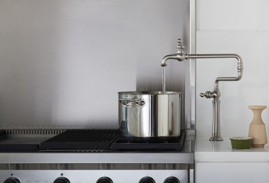 Williamsburg Warehouse Kitchen Kitchen Sink Faucets Pot Filler