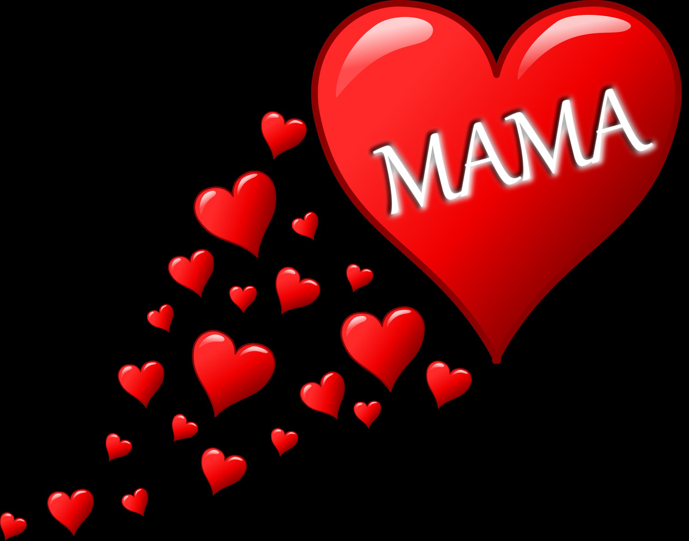 Herz für Muttertag mit einer Spur von Herzen by palomaironique