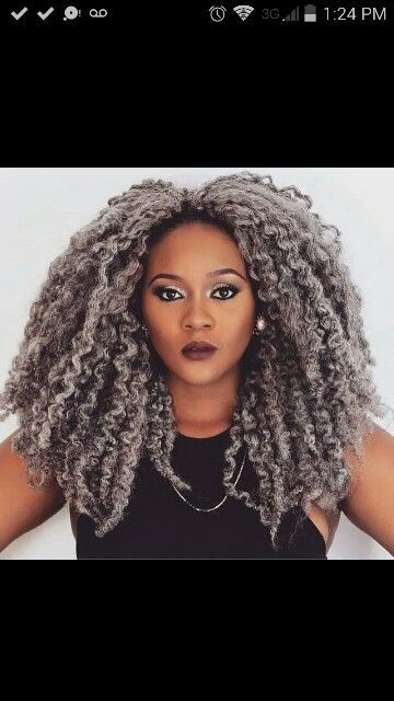 grey crochet marley hair