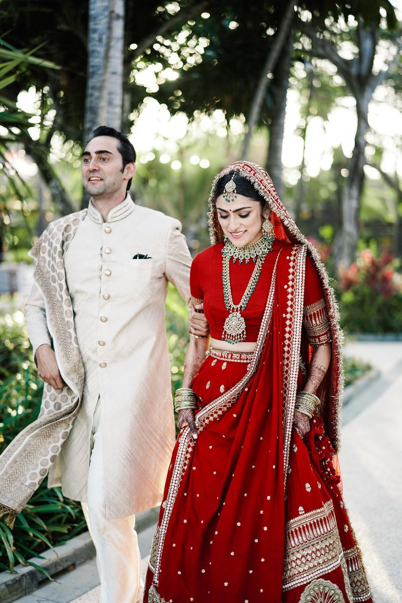 Fancy Bali Wedding With The Bride In Deepika S Sabyasachi Lehenga Indian Bridal Outfits Indian Bridal Dress Indian Bride Outfits
