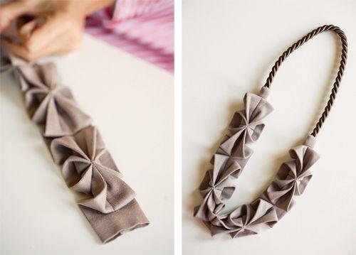 Anthology Magazine Online Holiday Issue Fabric Necklace Origami