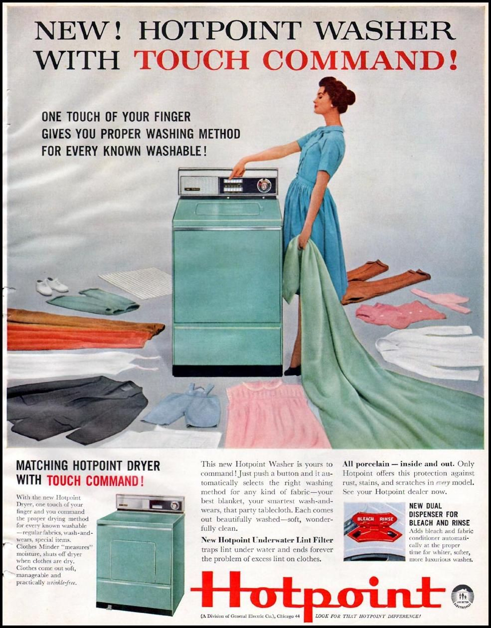 HOTPOINT WASHING MACHINES BETTER HOMES AND GARDENS 03/01/1960 p ...