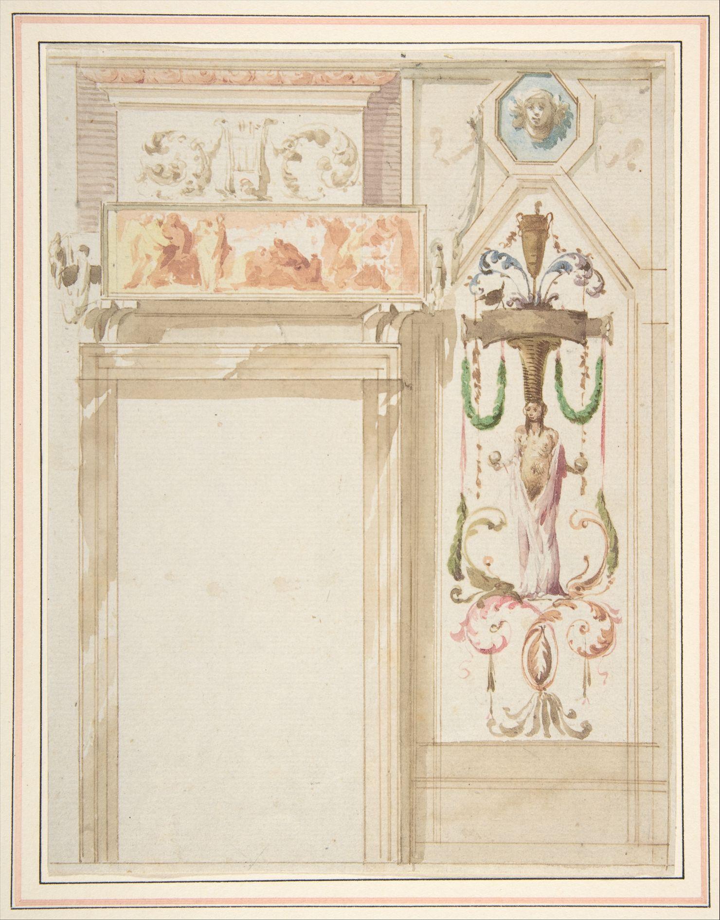 Giuseppe Bernardino Bison Design For A Wall Decorated With  # Muebles Bernardo Leon