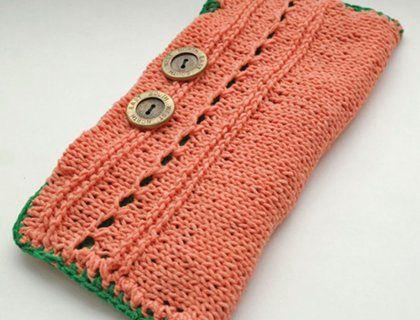 Клатч (вязание спицами, мастер-класс)