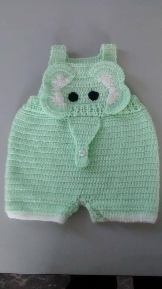 Overol para bebé | pants | Pinterest | Babyhose, Strampler und ...