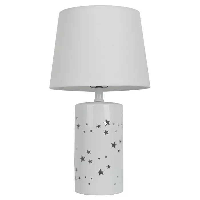 2 In 1 Starry Table Lamp White Pillowfort In 2021 White Table Lamp Lantern Table Lamp Table Lamp