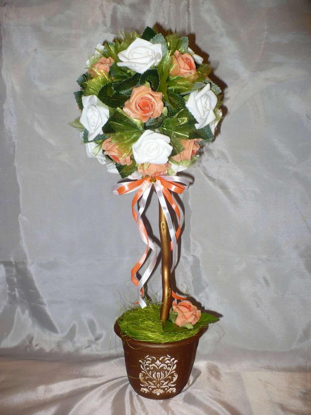 Топиарий из фоамирана: мастер класс из роз, фото из цветов, как сделать своими руками, новогодний топиарий, денежное дерево, видео