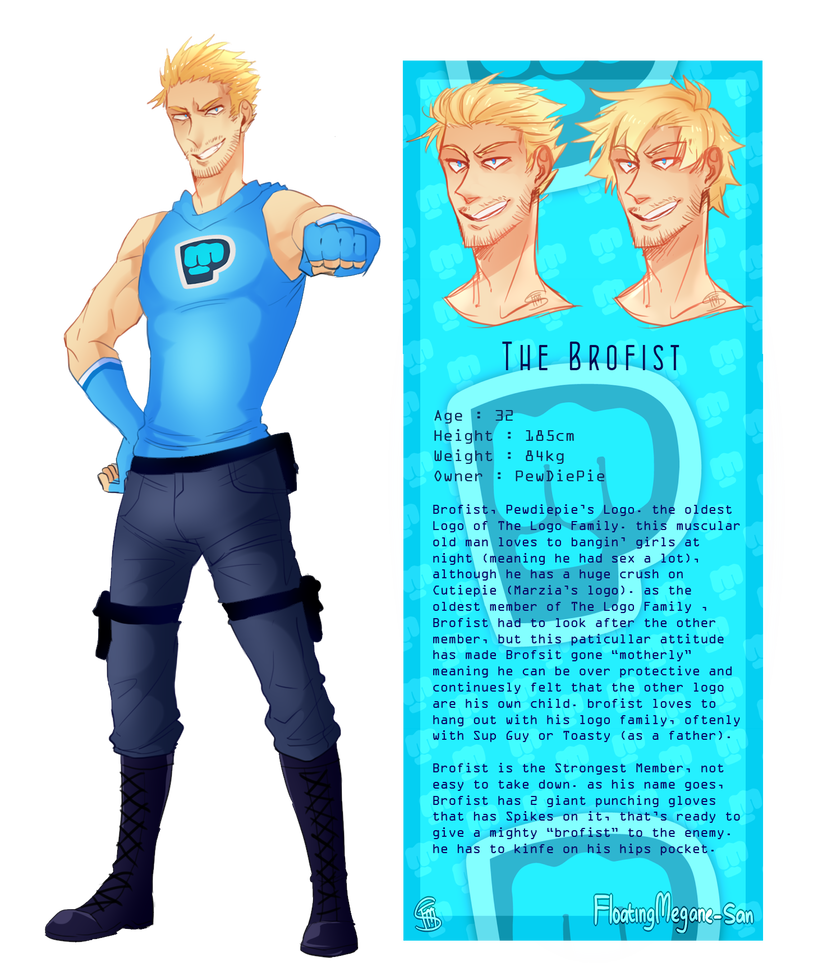 The Brofist Character Sheet Reference by FloatingMegane