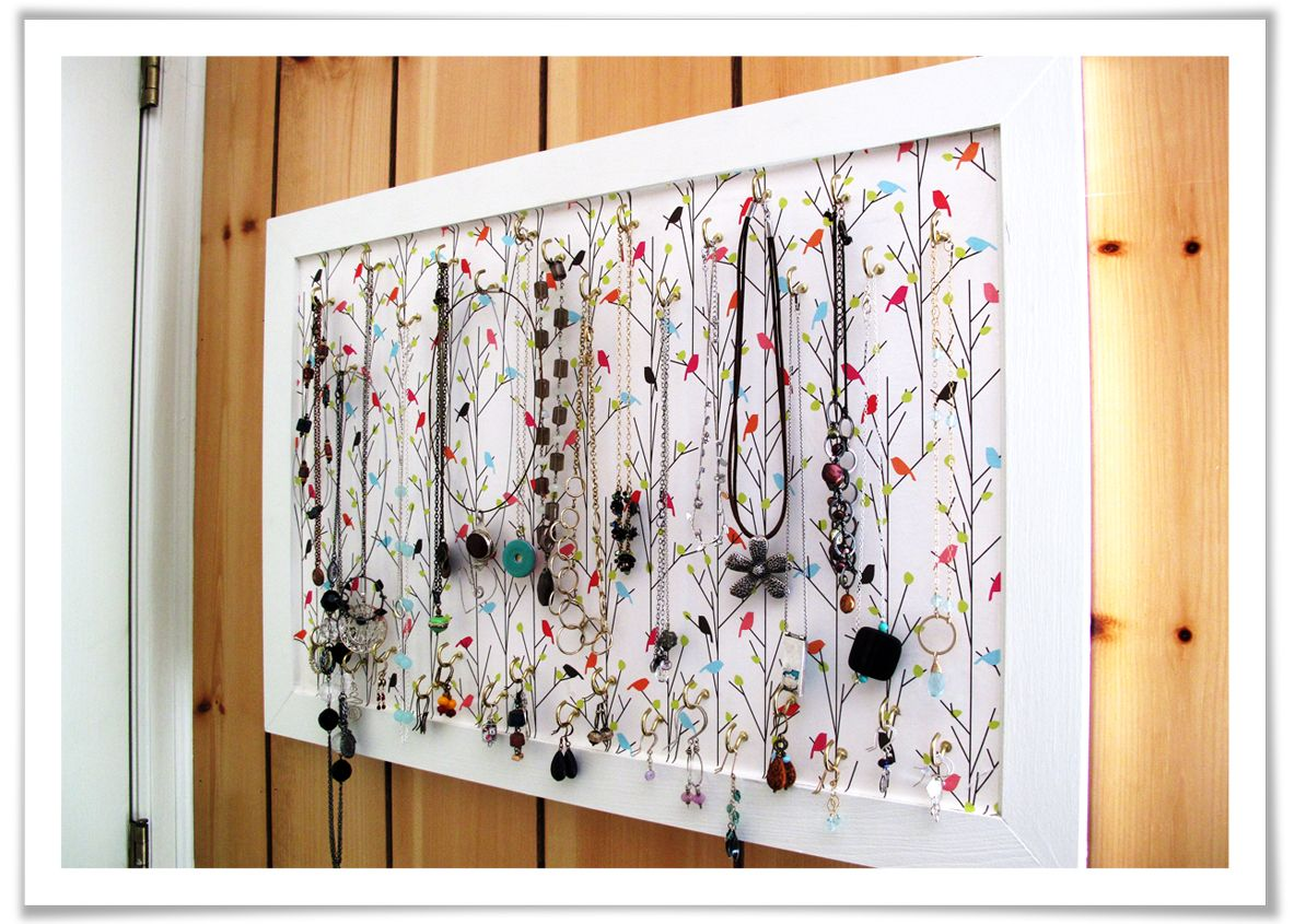 DIY Jewelry Organizer Diy jewelry organizer Homemade jewelry and