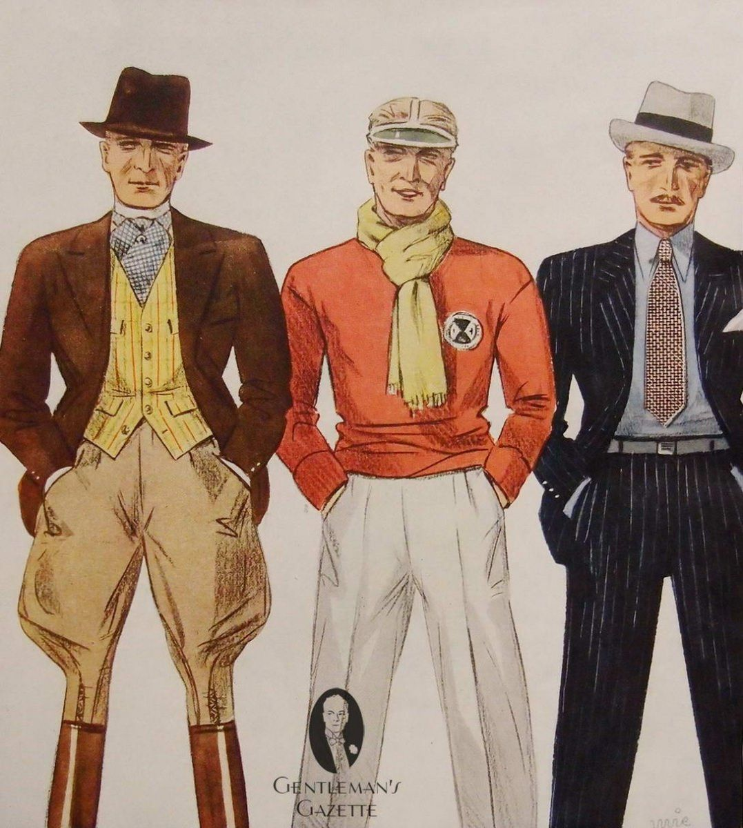 1930s mens casual fashion