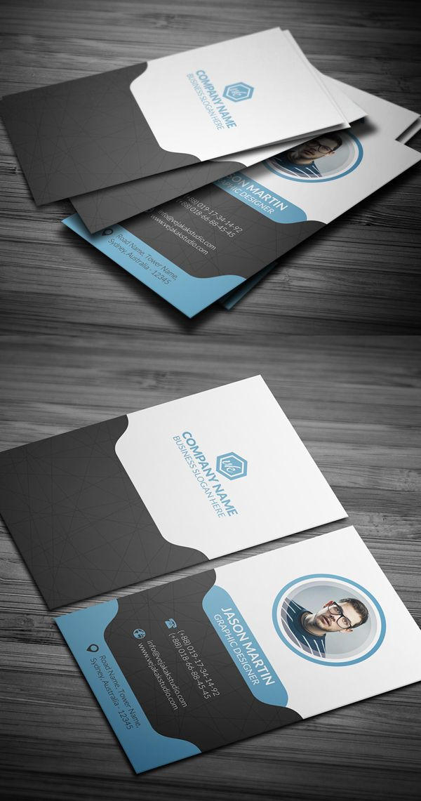 Personal Business Card Design | ID Card | Pinterest | Business cards ...