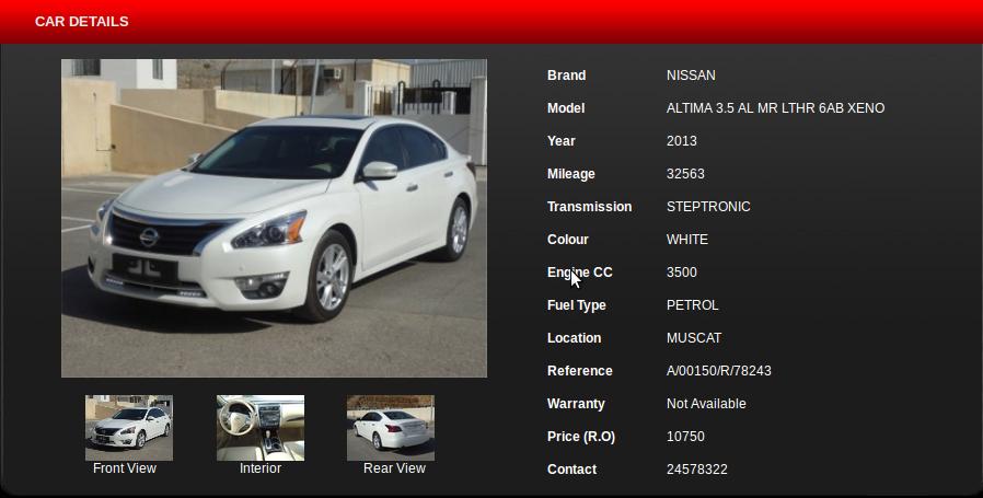 Buy Nissan Altima In Oman