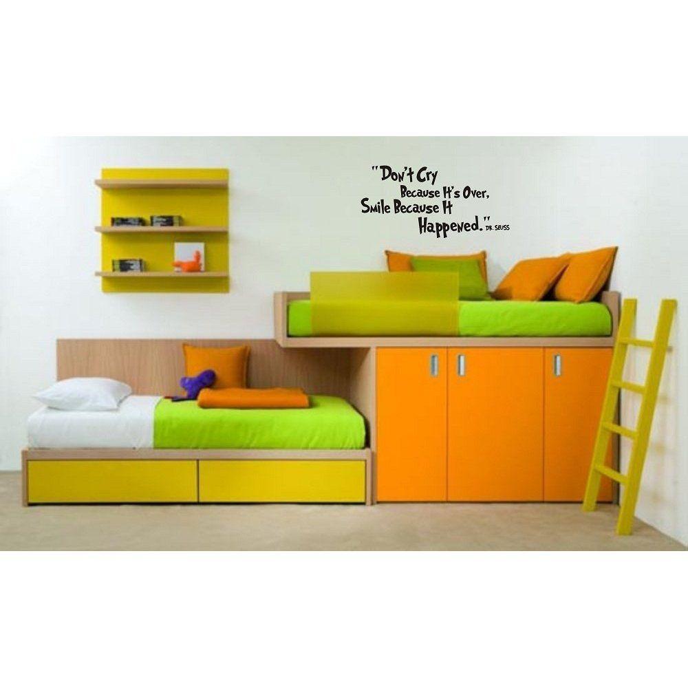 Love this kids bedroom set-up