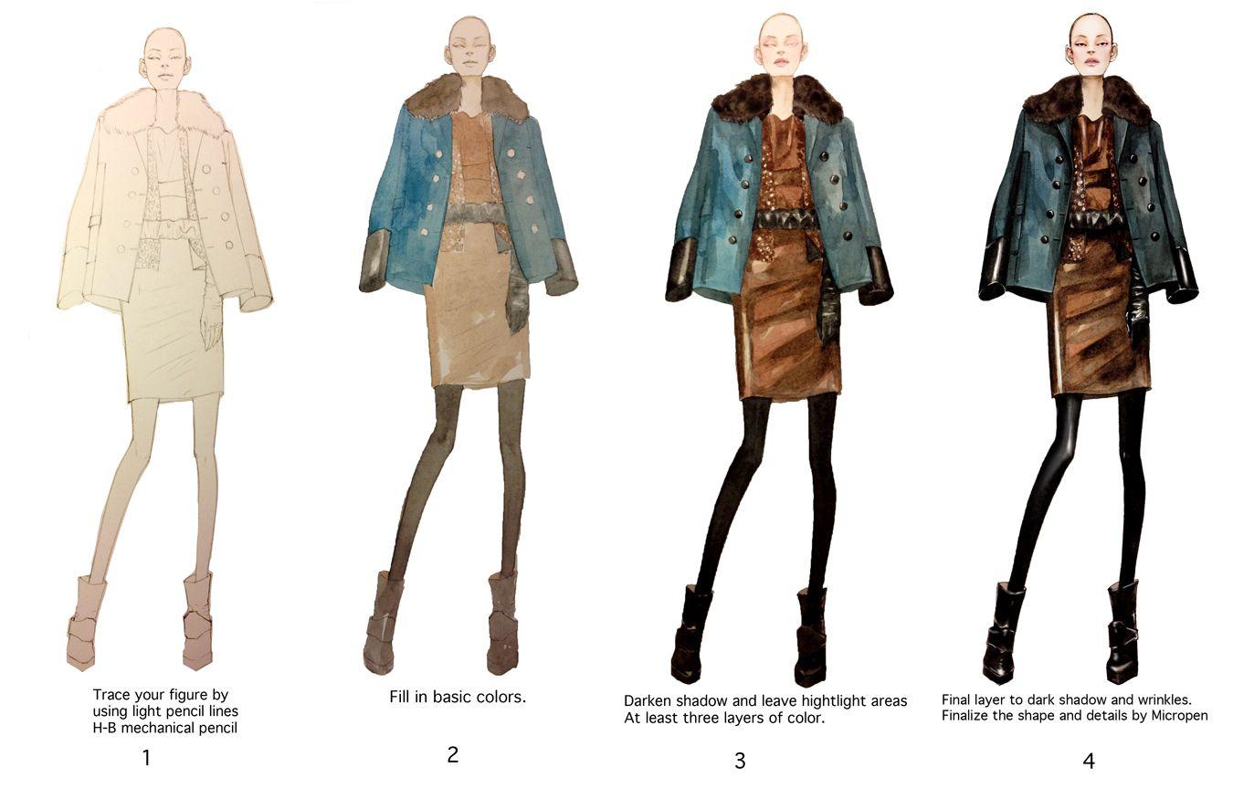 Fashion Illustrator Mengjie Di: Watercolor step by step