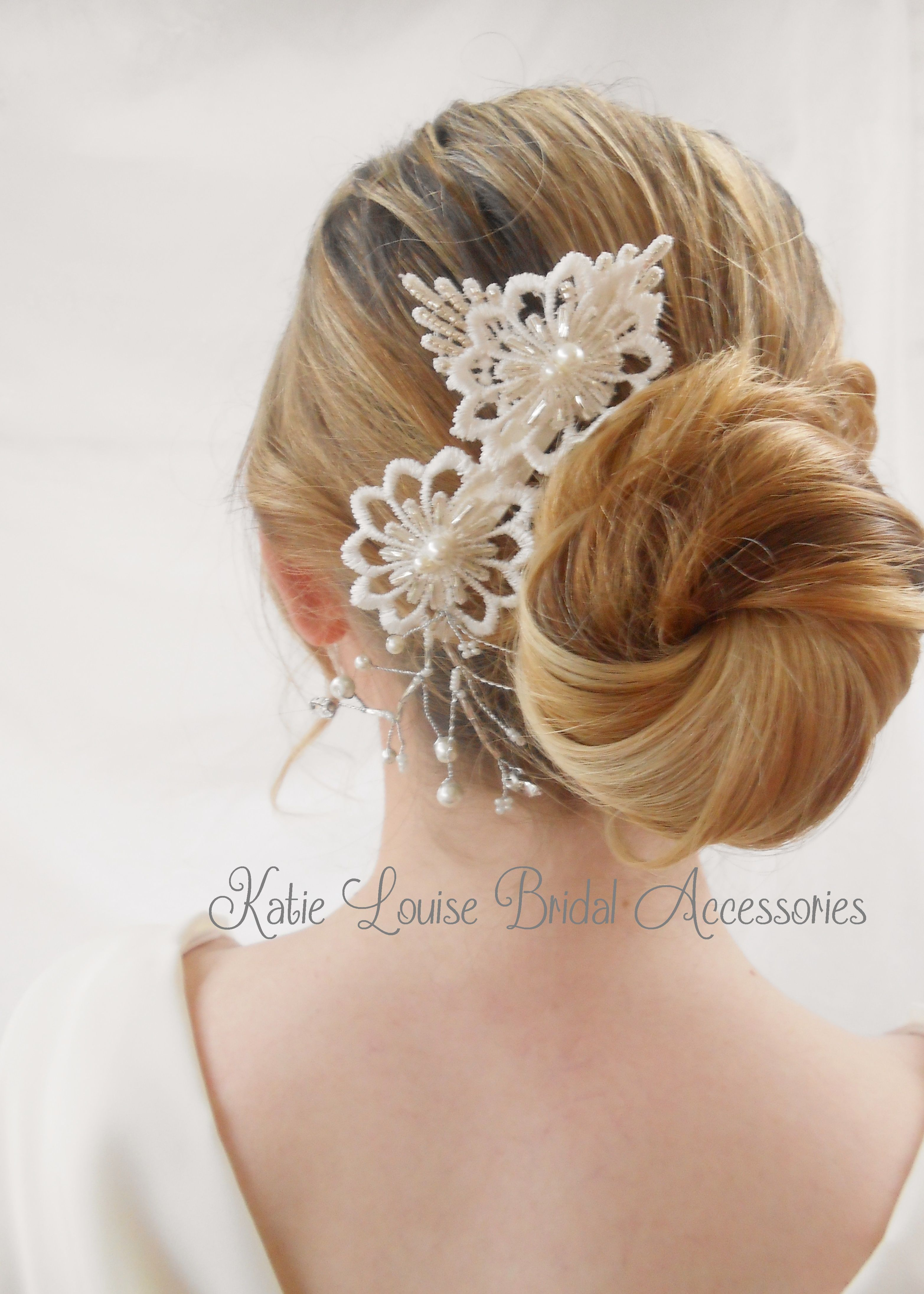 stunning bridal hair comb handmade by katie louise bridal