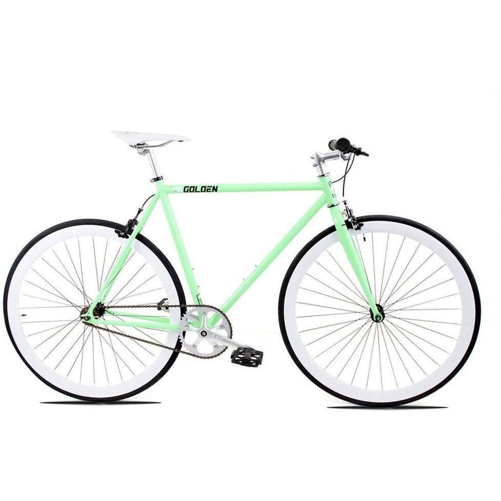 Golden Cycles | April Celeste/White Steel Frame Fixed Gear Bike ...