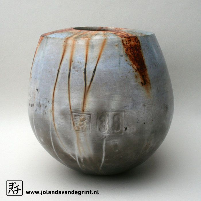 Ceramic, 52 saggar fired jars in 2016, some with special meaning. Look at my website for information.