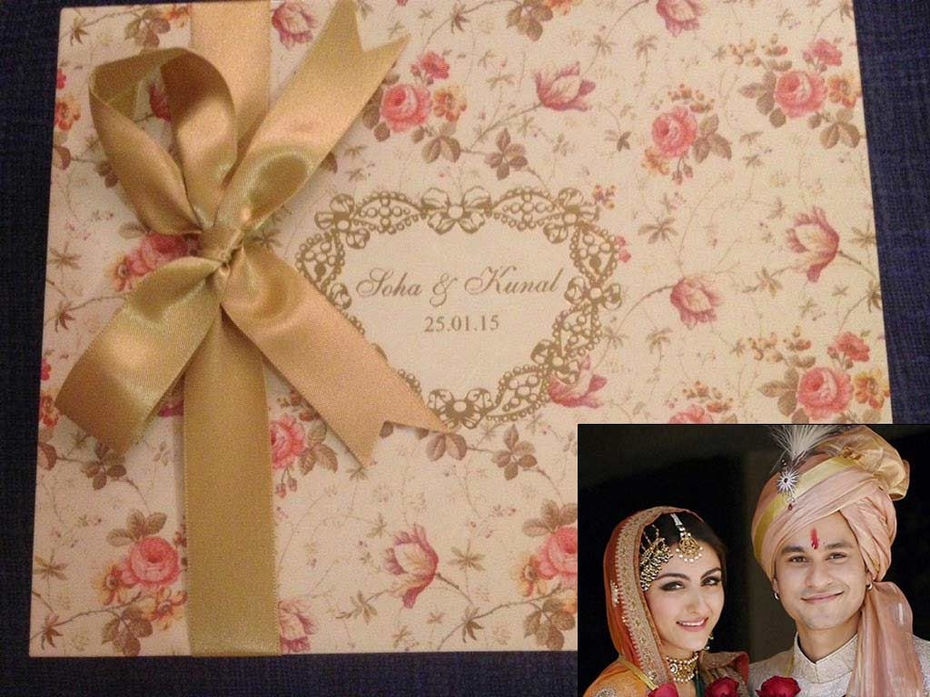 10 Gorgeous Celebrity Wedding Invites For Couples Who Want People To  Remember Their Shaadi