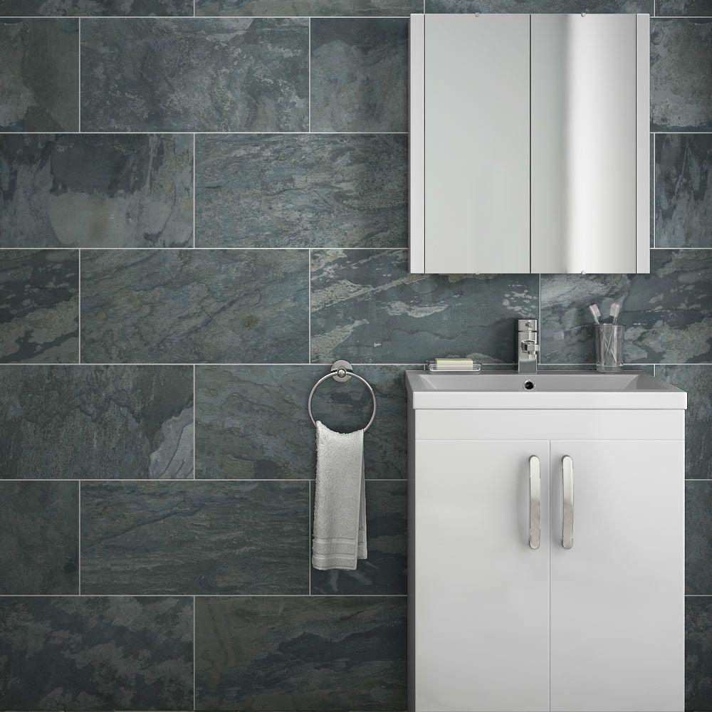 Grado Anthracite Tile | Matt Textured | 600x300mm ...