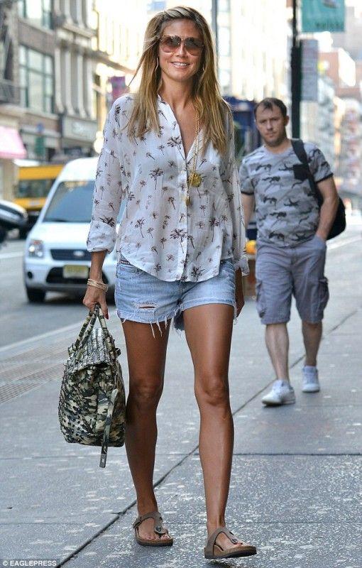 Heidi-klum-new-york-city-Birkenstock Http://www.monbottier