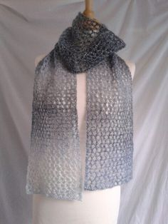 Bubble Bath Scarf knitted in Rico Creative Reflections. Pattern free on Ravelry :)