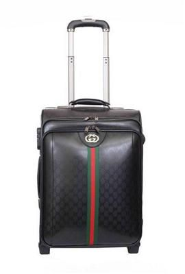 d366b450841 Gucci   Gucci Travel Luggage   Gucci Luggage Travel Carry-on Luggage 189758  Black Replica