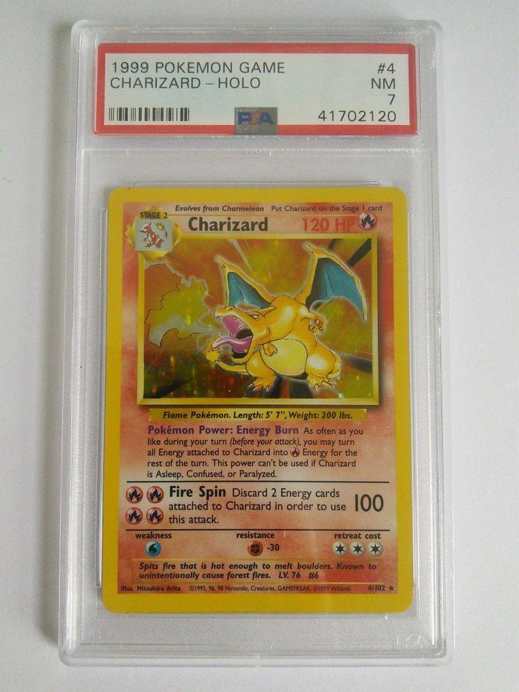 PSA 7 NEAR MINT Charizard 4//102 Base Set HOLO RARE Pokemon Card