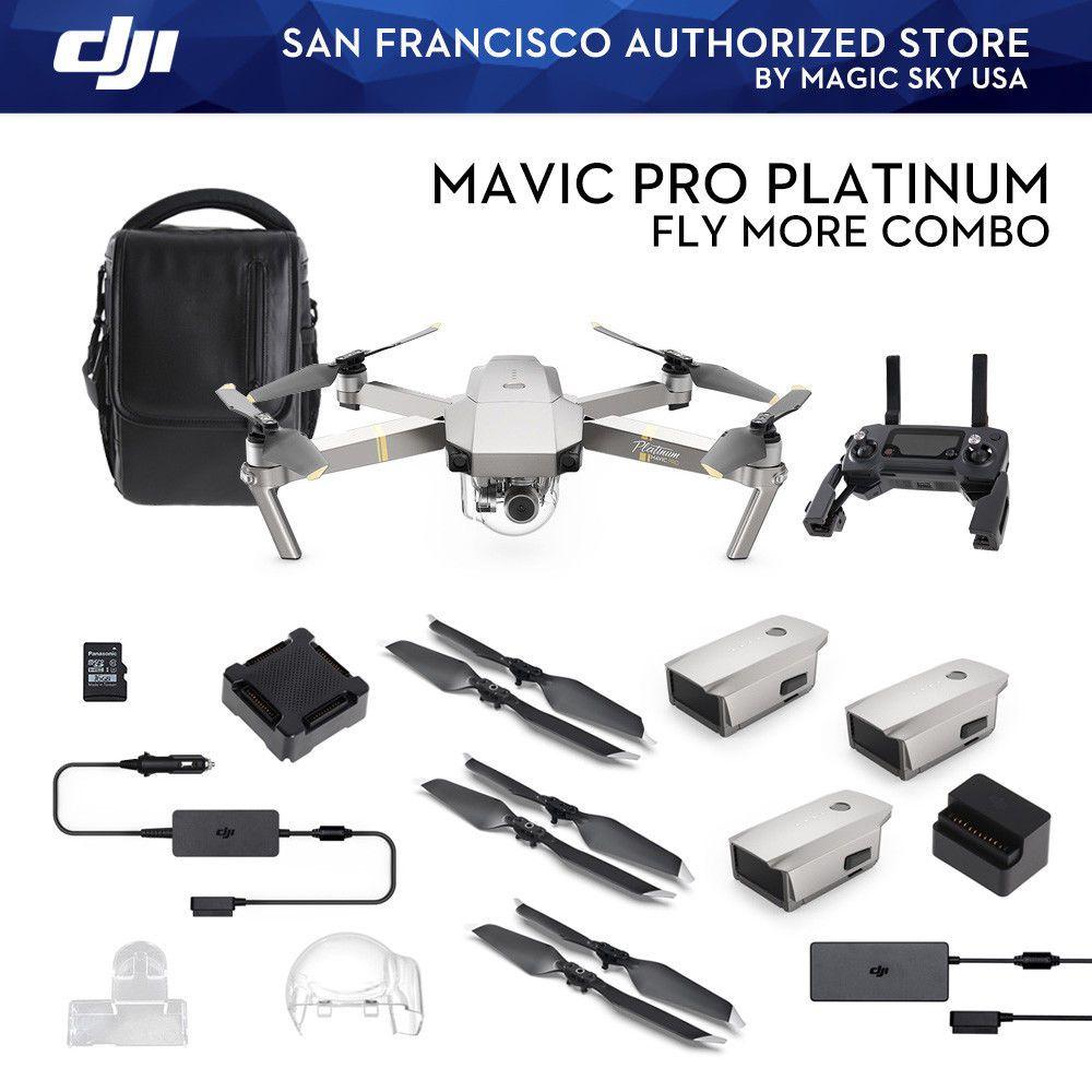 Dji Mavic Pro Fly More Combo Platinum In Stock Soon Magic Sky Usa