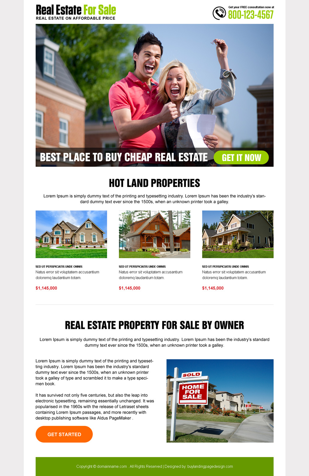 best-real-estate-for-sale-res-landing-page-27 | Real Estate Landing Page Design preview.