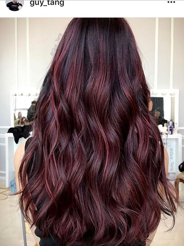 Wine Balayage Hair Reference And Color Hair In 2019