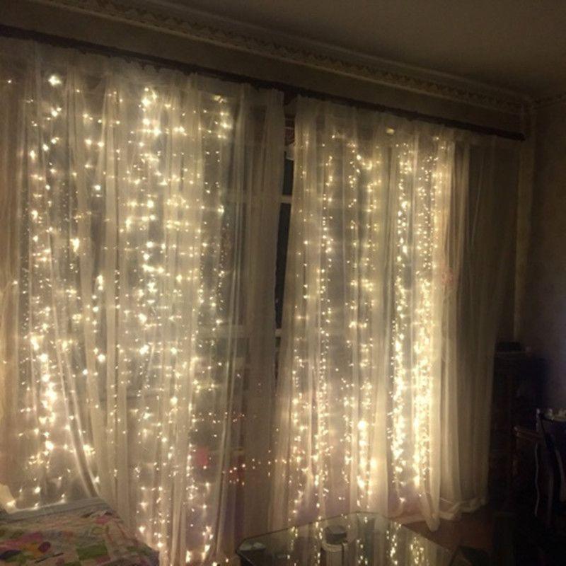 Fairy wedding decoration led holiday lighting lights 22 m curtain garland party garden christmas