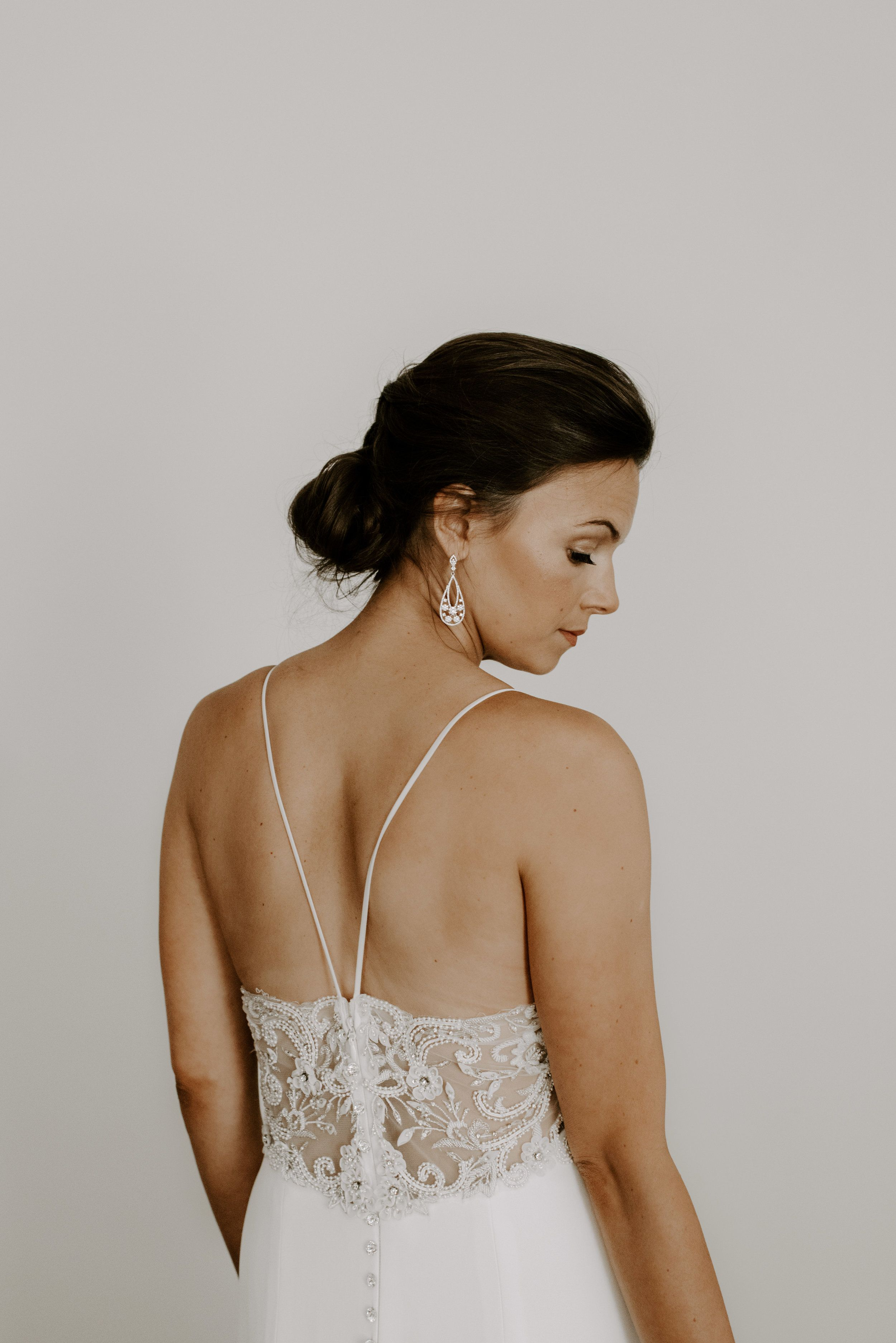 Modern Minimal Bridal Portrait Boston Wedding Photographer