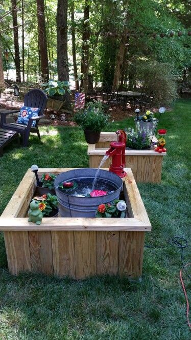 Septic tank lid covers/ water feature (ideas)  | Outside