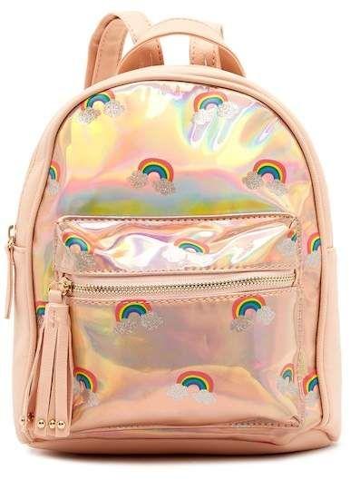 06b7567b45 OMG! Accessories Rainbow Hologram Mini Backpack (Little Girls   Big Girls)