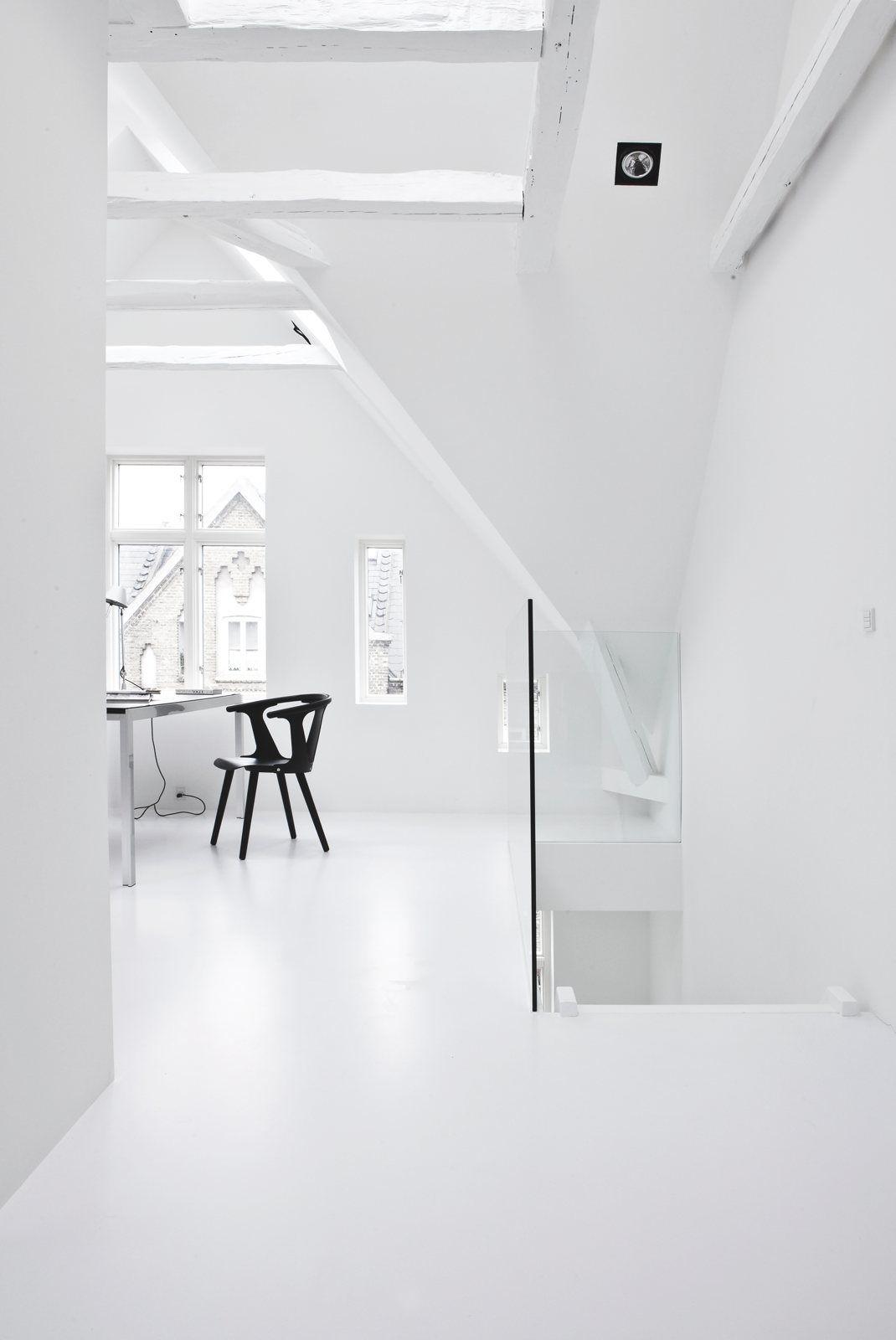 White attic workspace copenhagen townhouse ii by norm architects jonas bjerre poulsen