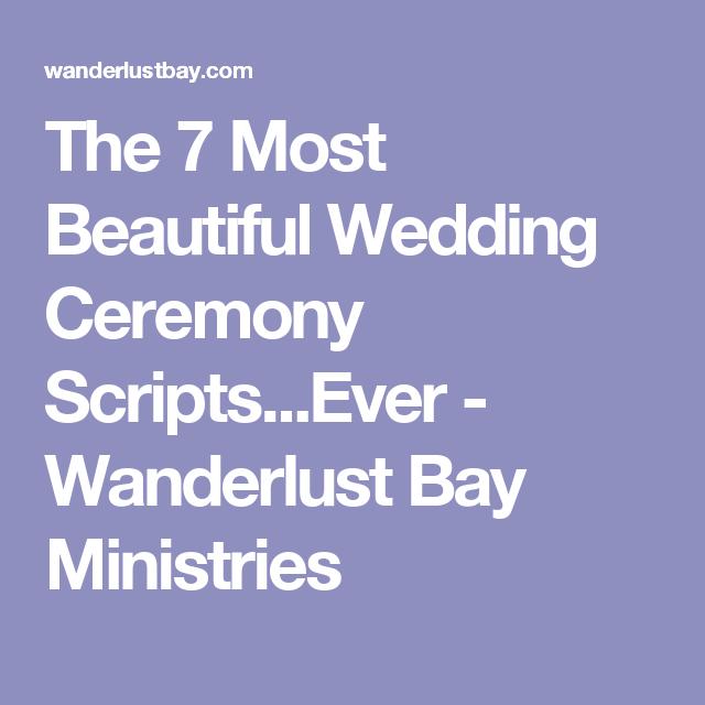 Christian Wedding Reception Ideas: The 7 Most Beautiful Wedding Ceremony Scripts...Ever