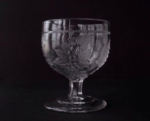 EAPG CLEAR BLOWN GLASS PINWHEEL & DAISY