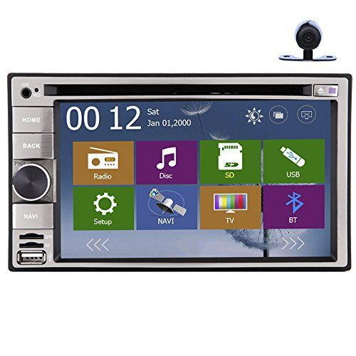 eincar double din 62 touch screen headunit audio system vehicle gpseincar double din 62 touch screen headunit audio system vehicle gps stereo dvd multimedia bluetooth radio navigation support ipod subwoofer 8gb card with