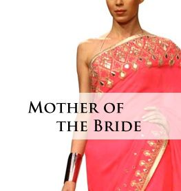 7e653a14a27 Neon Pink Georgette Saree by Anita Dongre for the Mother of the Bride