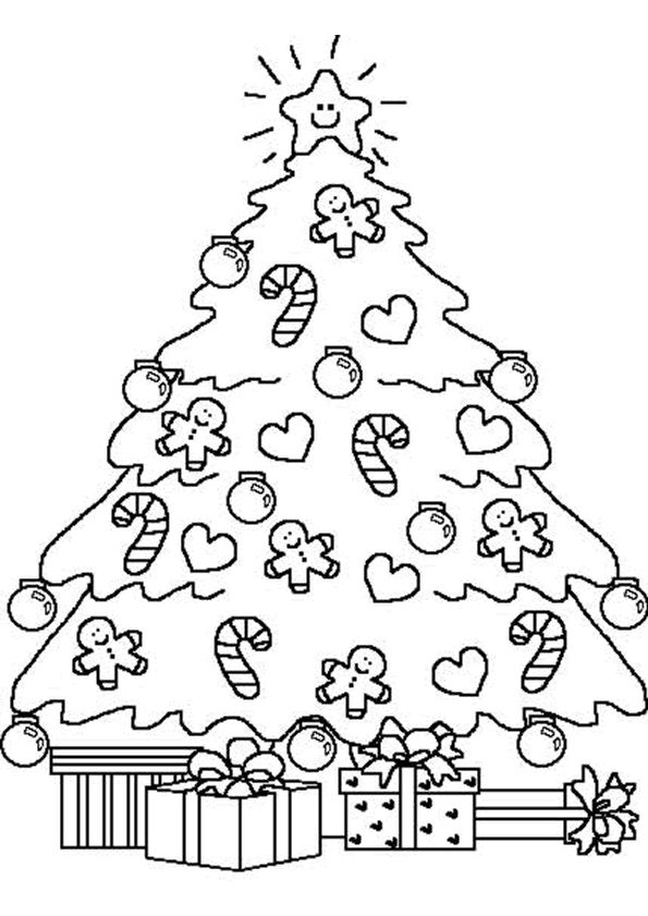 Kleurplaten Voor Kerst.Kerst Kleurplaten Kerst Christmas Tree Coloring Page Christmas
