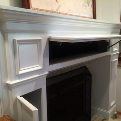 20 Sneaky Storage Ideas Secret Storage Fireplace Mantel