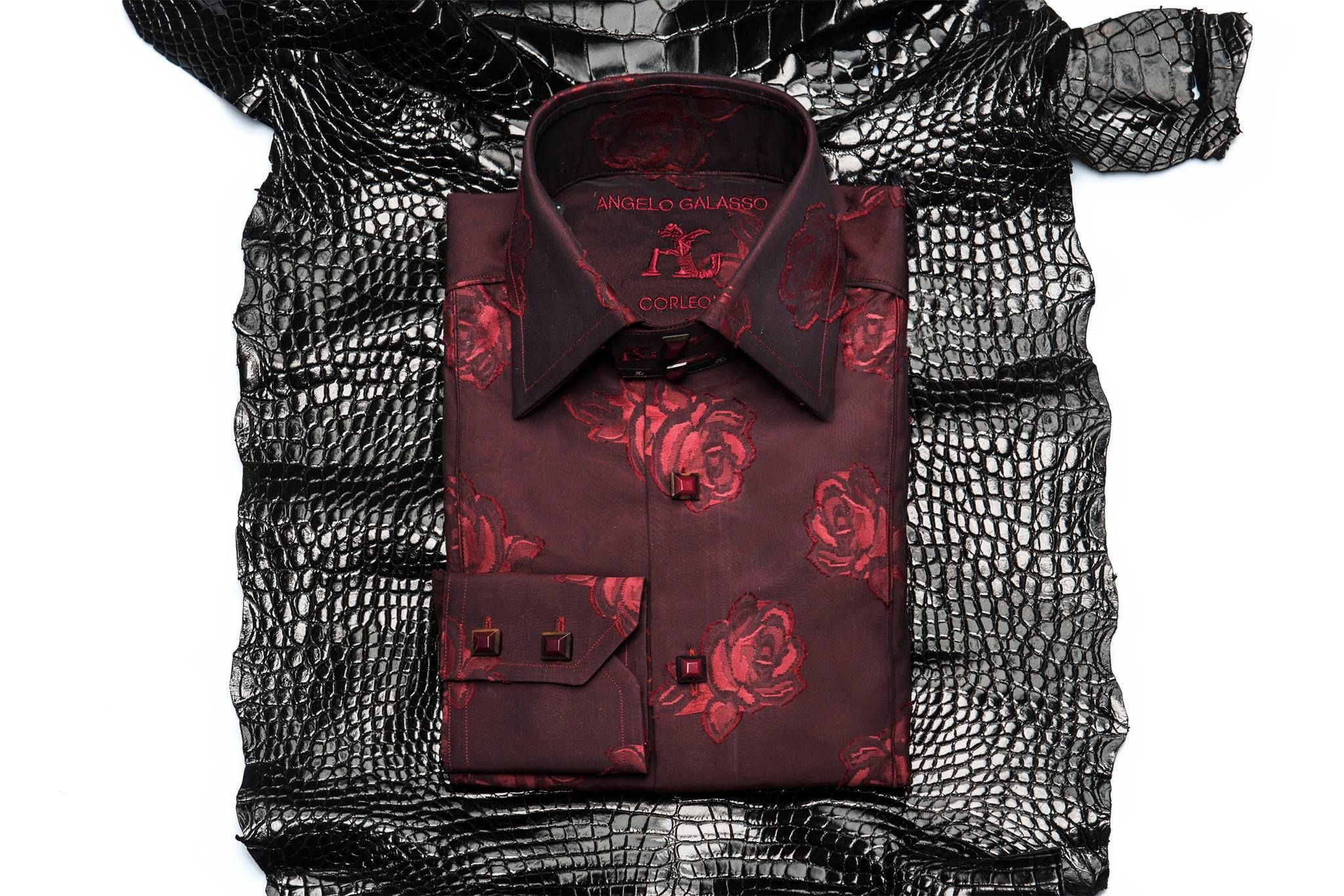 Angelo Galasso Men's Silk Shirt | Angelo Galasso Shirts ...