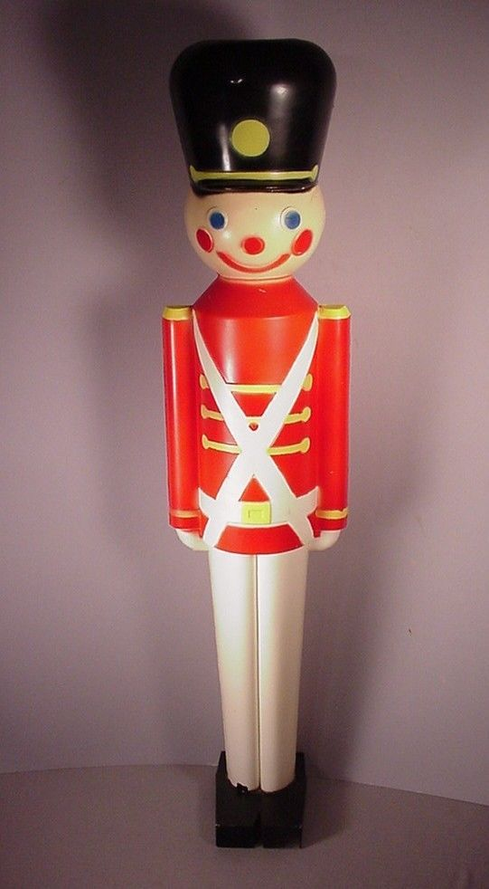 Retro Christmas Toy : Vintage christmas toy soldier quot plastic light blow mold