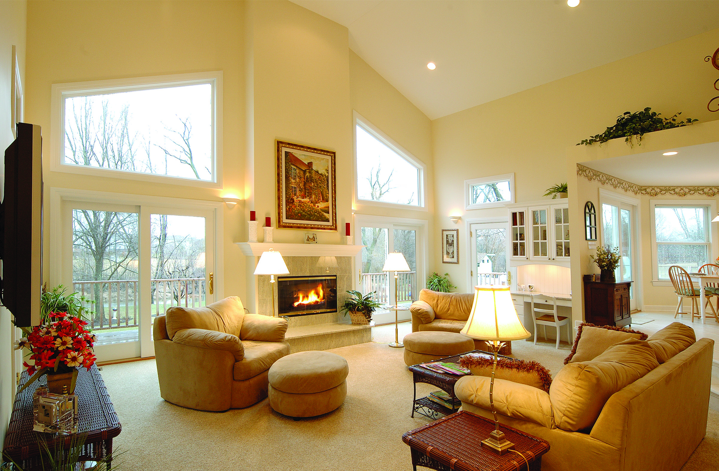 Naperville Home Addition With Its Trapezoidal Windows