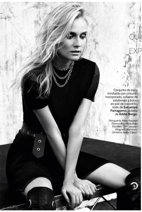 Diane Kruger is the cover star for the April 2013 issue of  S Moda magazine.